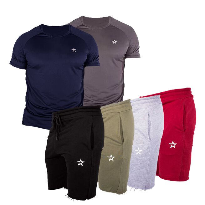 Star Tech Tee + Star Raw Edge Shorts