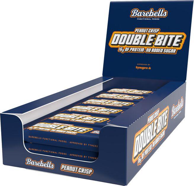 12 x Barebells Double bite Protein Bar, 55 g, Peanut Crisp