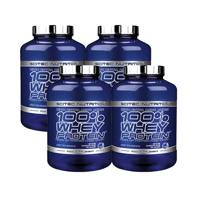 4 x 100% Whey Protein, 2350 g, BIG BUY