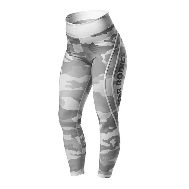 Camo High Tights, White Camo, M