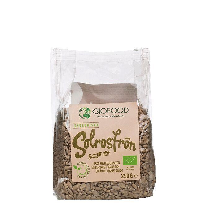 Ekologiska Solrosfrön, 250 g Biofood
