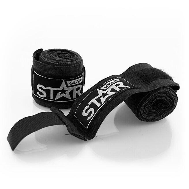 Star Gear Hand Wraps, Black, 2,5 m