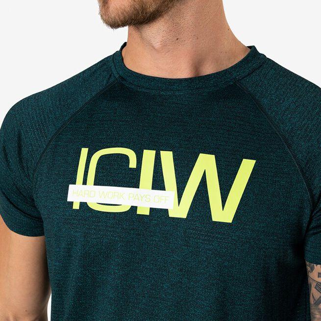 Mesh Training T-shirt, Vivid Green Melange, L