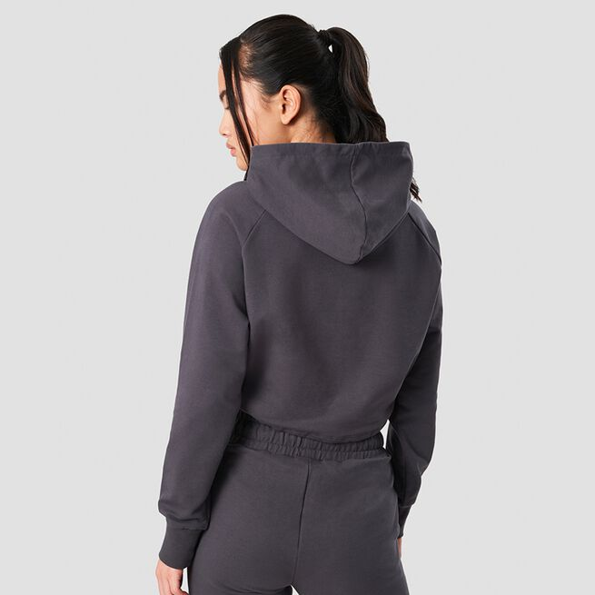 ICANIWILL Adjustable Cropped Hoodie Graphite