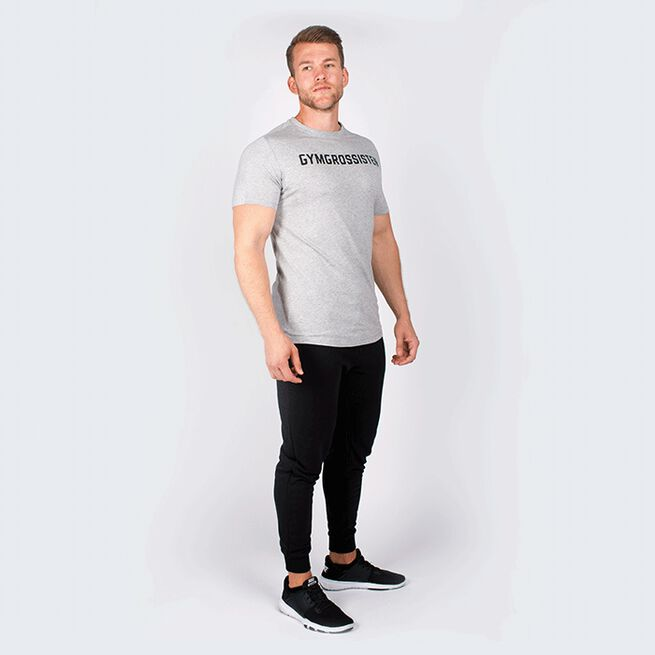 GYMGROSSISTEN MEN NEW LOGO TEE GREY