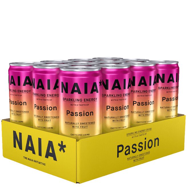12 x NAIA* Energy Drink, 330 ml, Passion