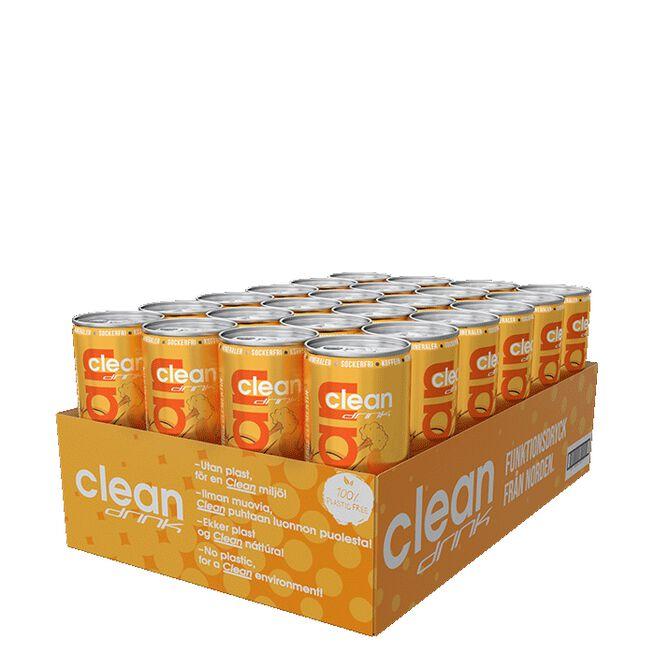 24 x Clean Drink, 330 ml, Citrus Clementin