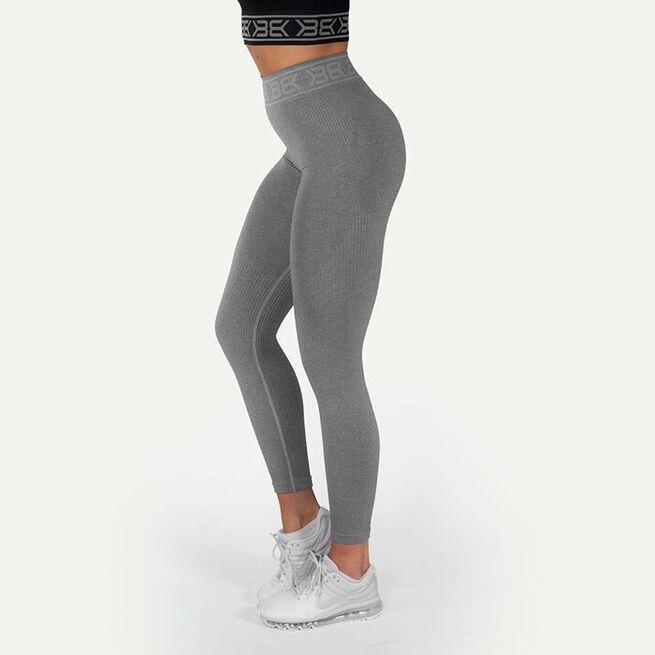 Rib Seamless Legging, Greymelange, XS