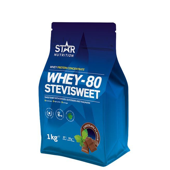 Star nutrition Whey-80 Stevisweet Chocolate choklad