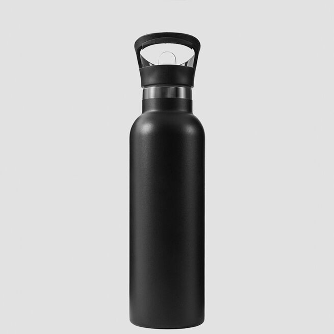 ICANIWILL Stainless Steel Water Bottle 600 ml Black White