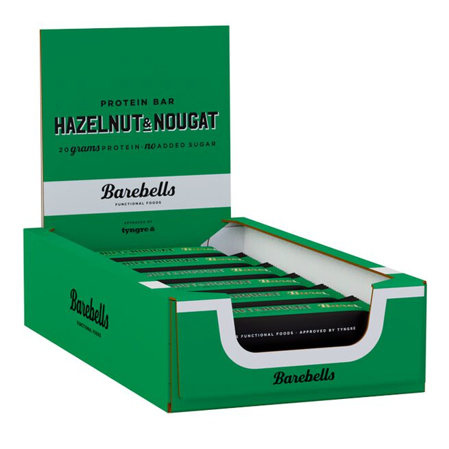 12 x Barebells Protein Bar, 55 g, Hazelnut Nougat