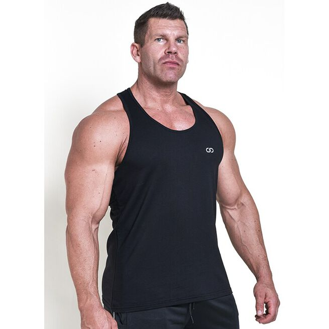 Chained Gym Stringer, Black, M