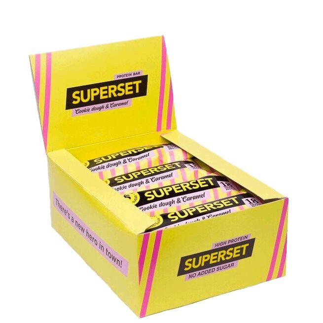 12 x Superset Protein Bar, 55 g, Cookie dough & Caramel