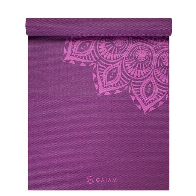 Gaiam 6mm Yoga Mat Purple Mandala