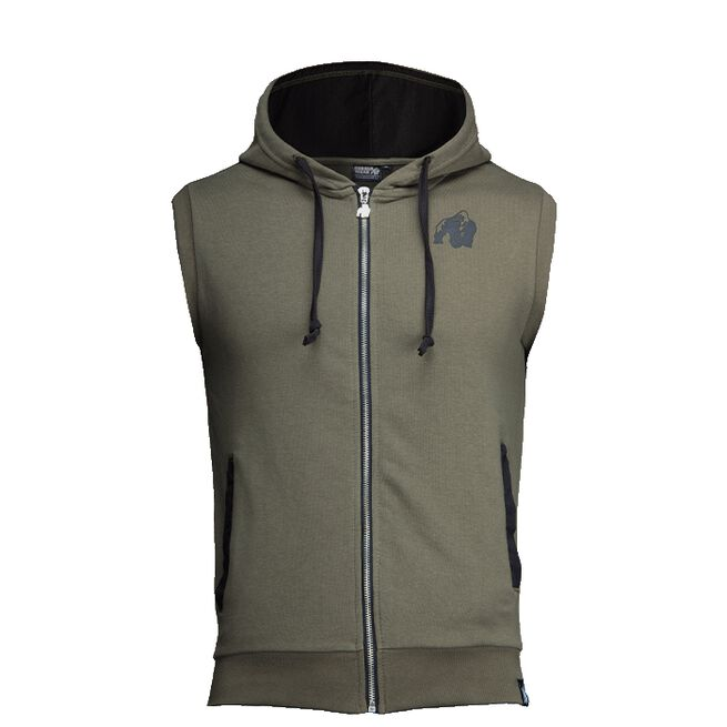 Springfield S/L Zipped Hoodie, Army Green, S