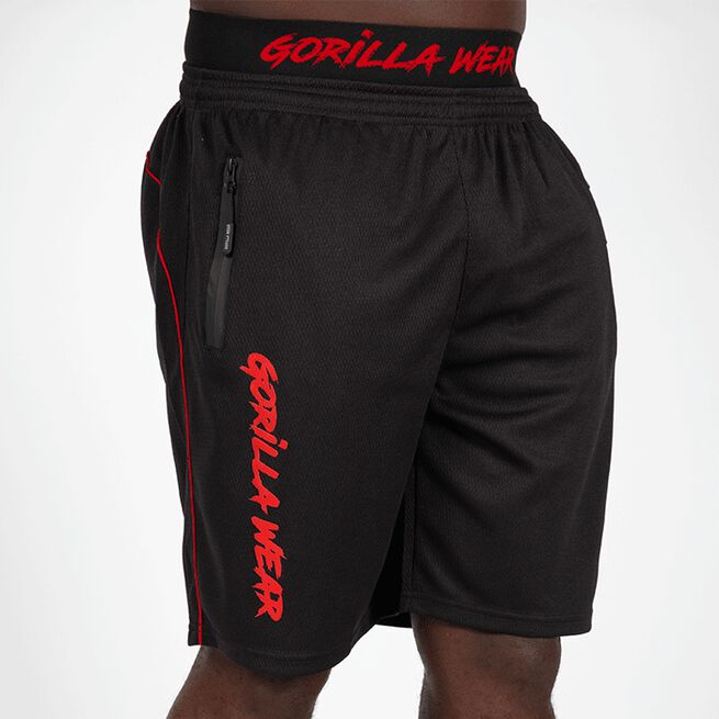 Mercury Mesh Shorts, Black/Red, S/M