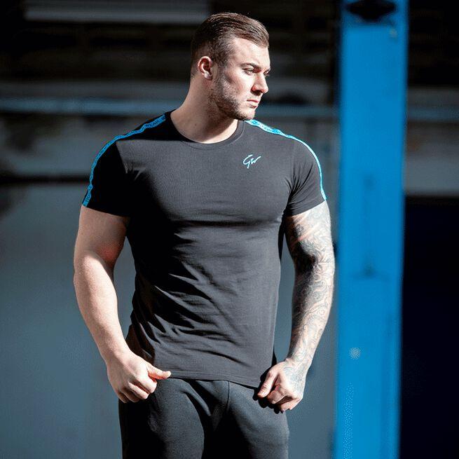 Chester T-Shirt, Black/Blue, S