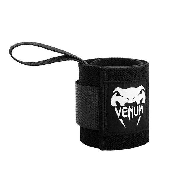 Venum Hyperlift Lifting Wrist Bands (Pair), Black