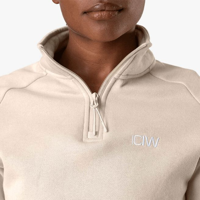 ICANIWILL Essential Cropped Sweater, Beige