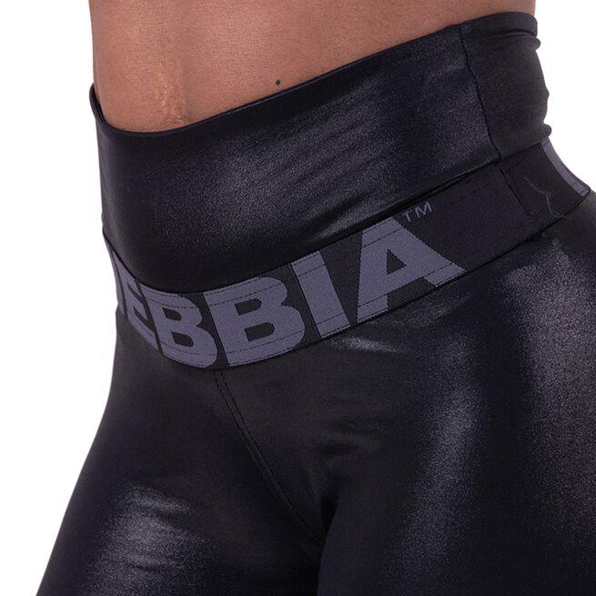 NEBBIA High Waist Glossy Tights, Black