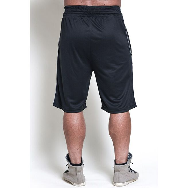 Chained Mesh Shorts, Black, M