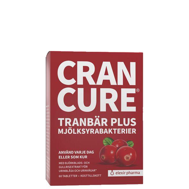 Cran Cure® tranbär plus mjölksyrabakterier, 60 tabletter