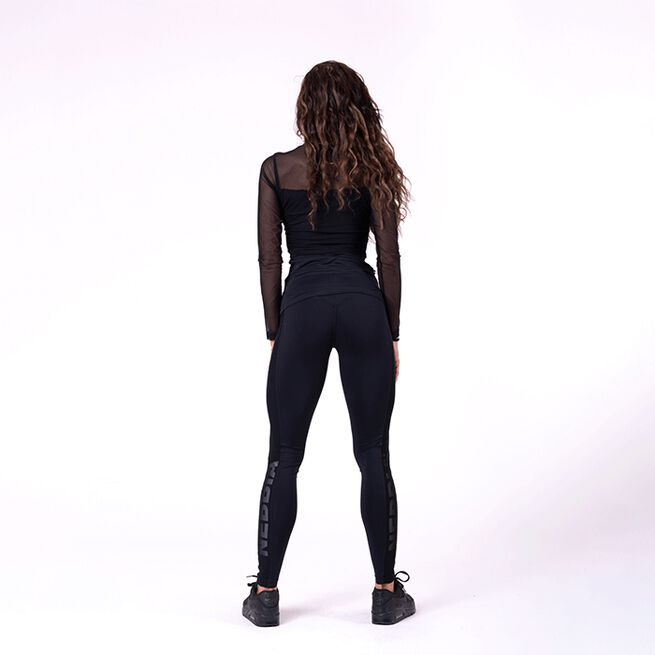 NEBBIA Flash Mesh Tights, Black