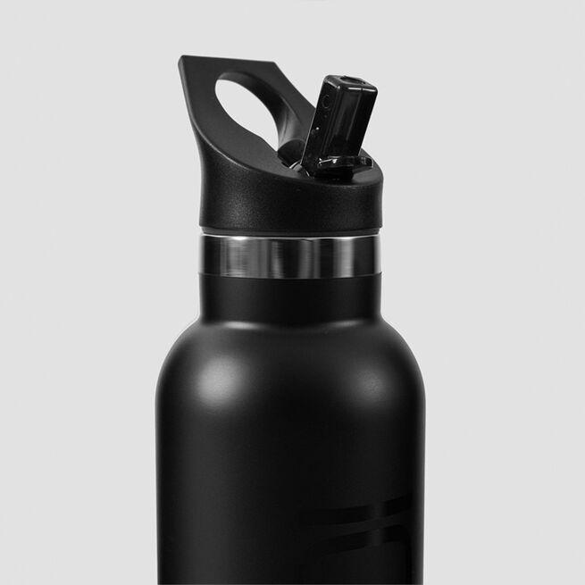 ICANIWILL Stainless Steel Water Bottle 600 ml Black