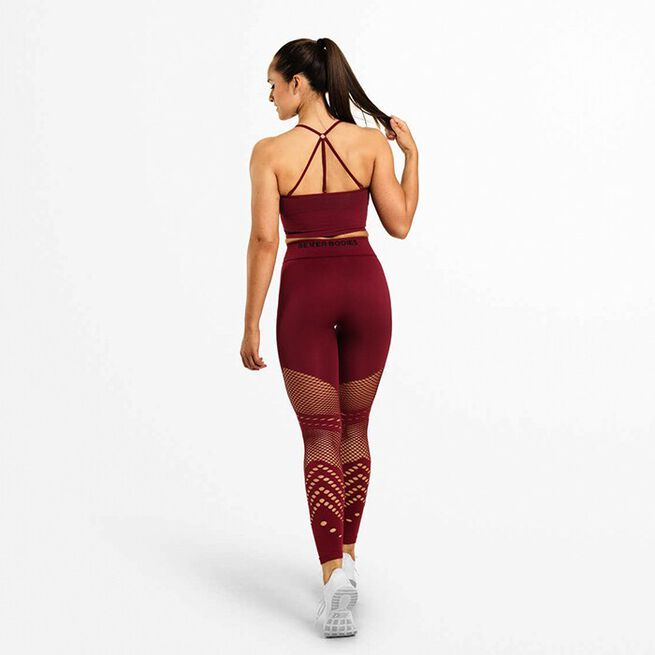 Waverly Tights, Sangria Red, M