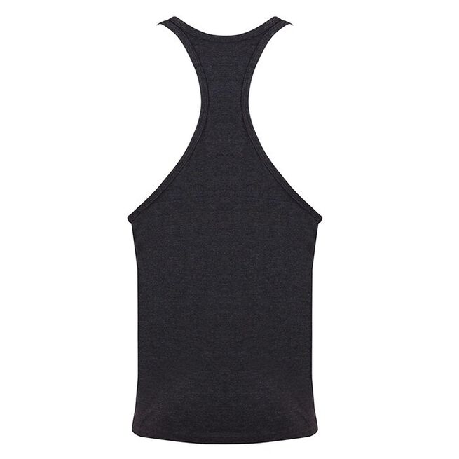 Golds Gym Muscle Joe Premium Stringer Vest, Charcoal / Red