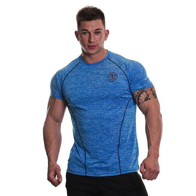 Gold's Gym Performance Raglan T-shirt, Blue Marl