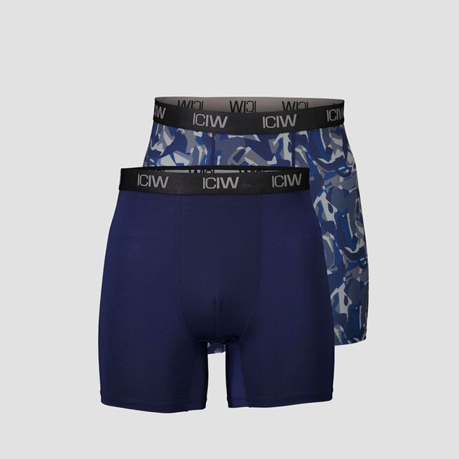 ICANIWILL Sport Boxer 2 Pack Navy Grey