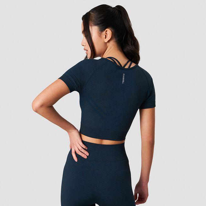 ICANIWILL Define Seamless Cropped T-shirt Dark Teal Melange