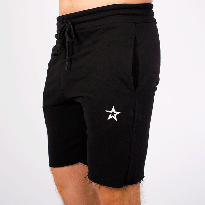 Star Raw Edge Shorts, Black