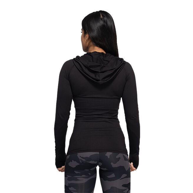 Better Bodies Performance LS Hood, Black/Grey