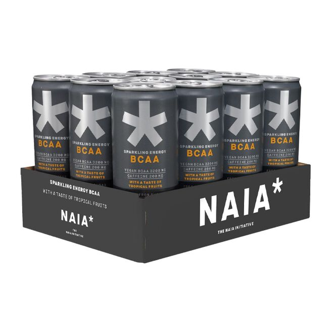 12 x NAIA* Energy BCAA, 330 ml, Tropical Fruits