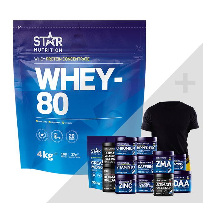 Star nutrition Whey-80 bonus product