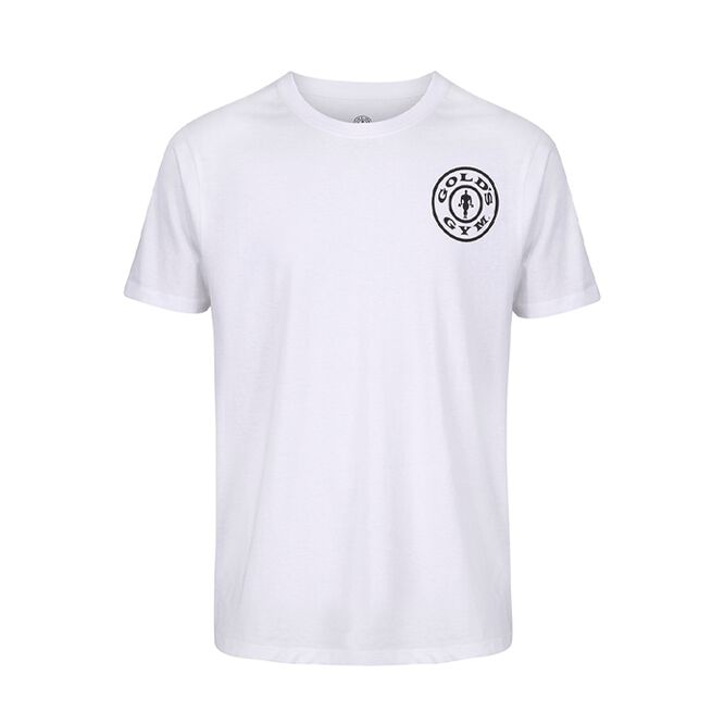 Gold's Gym Basic Left Chest T-shirt, White/Black