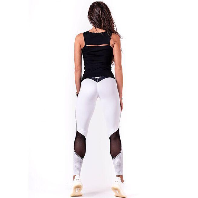 V-Butt Tights, White, M