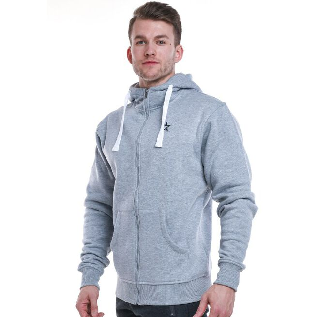 Star Mens  Zip Hood, Grey, S