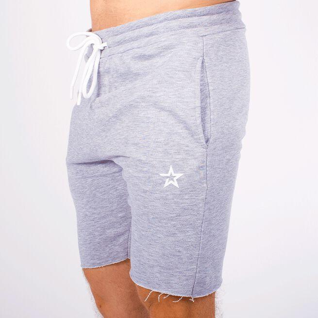 Star Raw Edge Shorts, Grey melange