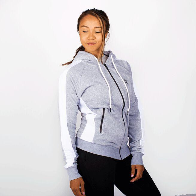 Star Gym  Zip Hood, Grey/White