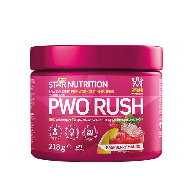 PWO Rush, 218 g, Raspberry-Mango