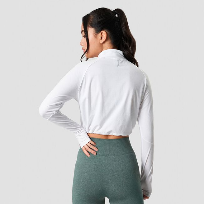 ICANIWILL Define Cropped 1/4 Zip Adjustable White