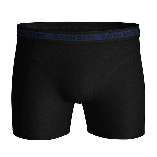 7-Pack Sammy Shorts Solid Multi, Black Beauty, L