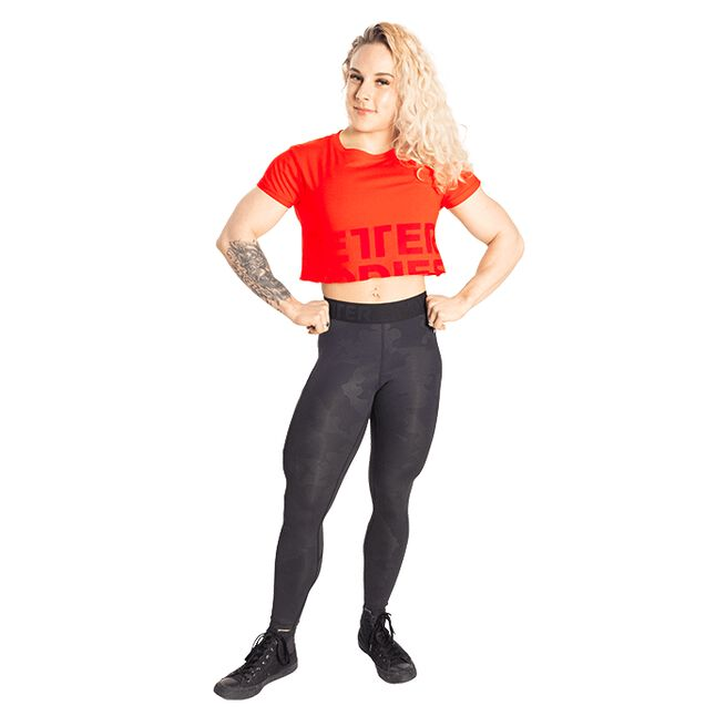 Better Bodies Astoria Cropped Tee Sunset Red