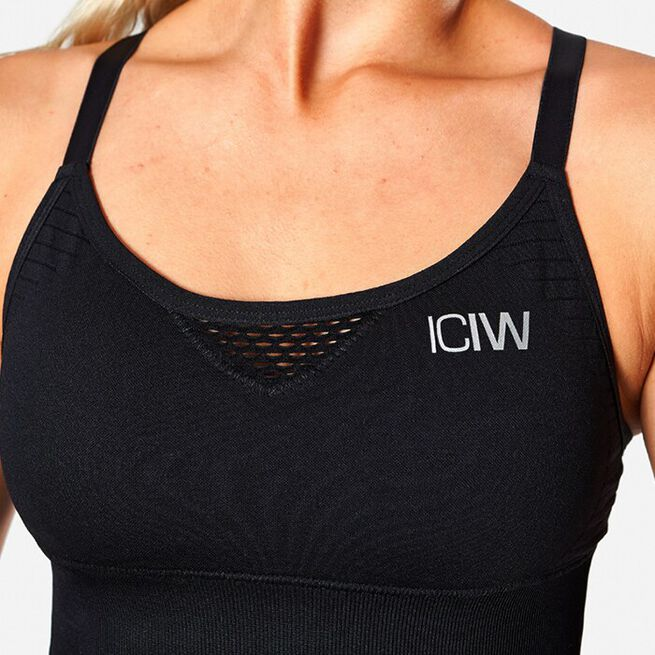 ICIW Dynamic Seamless Sports Bra, Black, XS