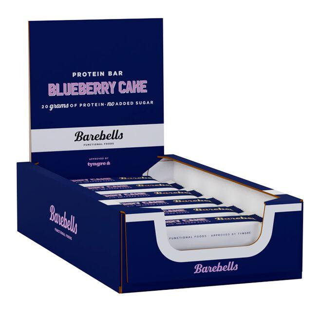 12 x Barebells Protein Bar, 55 g, Blueberry Cake