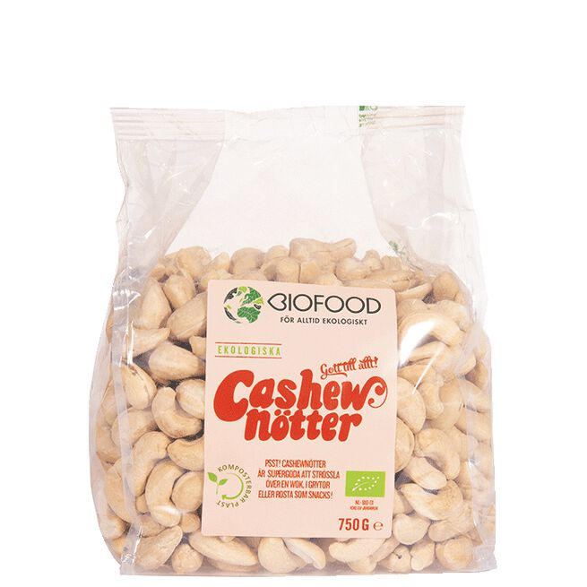 Hela, ekologiska cashewnötter Biofood