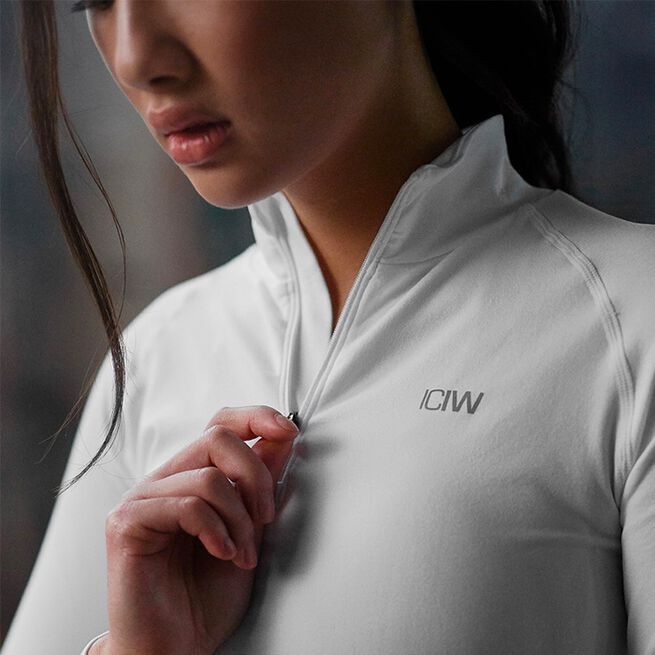 ICANIWILL Define Cropped 1/4 Zip White